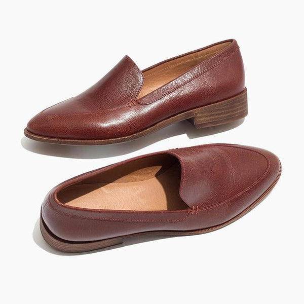 Women's Shoes - Fashion Autumn Spring Slip On Leather Shoes