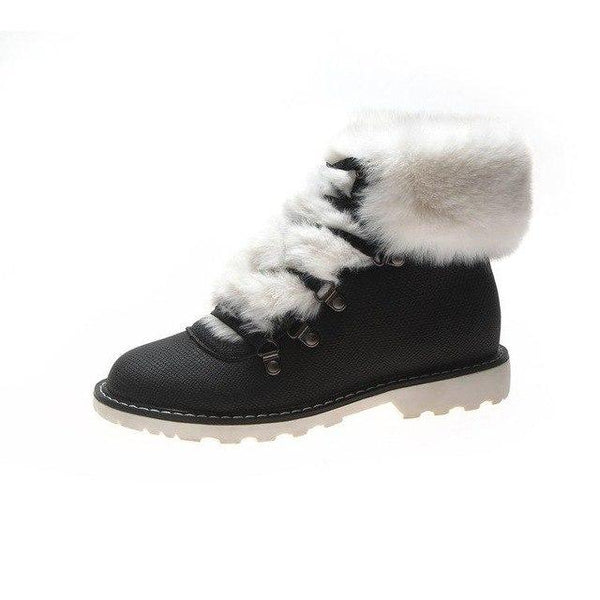 Boot - Winter Women's Casual Lace-Up Round Toe Snow Boots