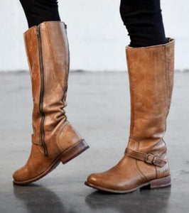 Shoes - Women's Winter Warm Knee High Motorcycle Boots