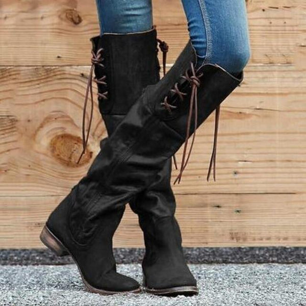 2019 New Women Gladiator Vintage Leather Boots