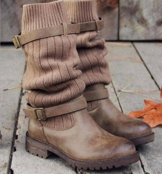 Shoes - 2018 Hot Sale Fashion Women's Mid calf Chunky Boots
