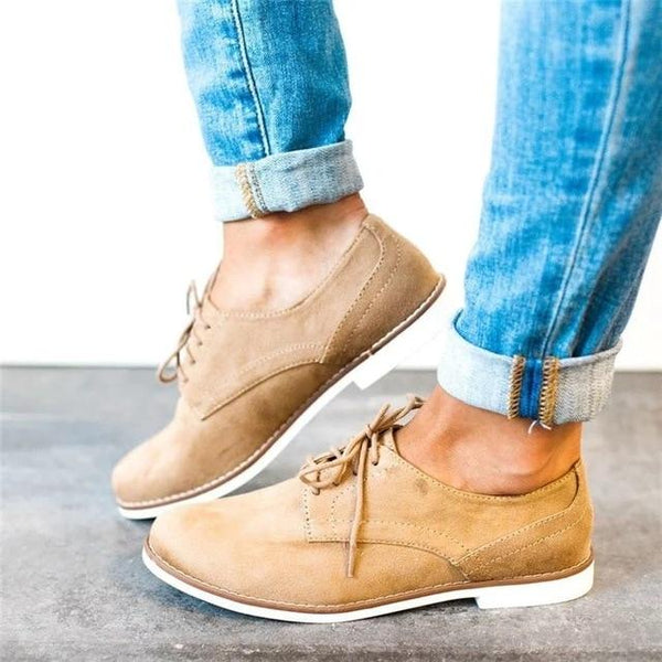 Women's Shoes - Casual Lace Up Oxfords Footwear For Ladies
