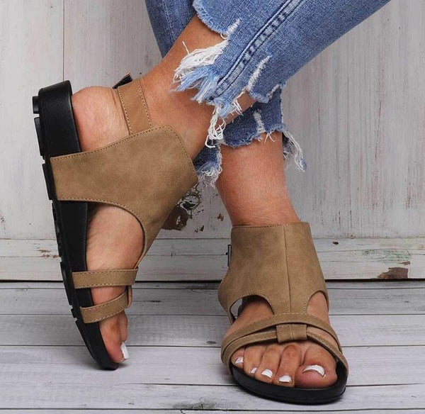 Shoes - Comfy Sole Buckle Strap Beach Sandals(Buy 2 Got 10% off, 3 Got 20% off Now)