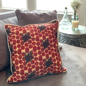 red synapse pillow cover