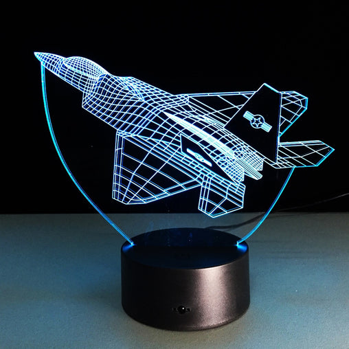 F35 Jet 3D Night Lamp