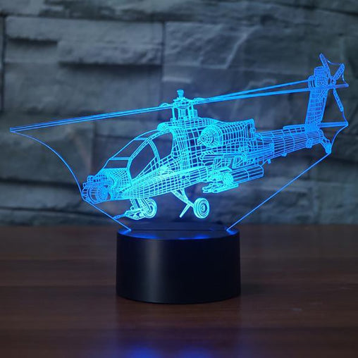 Helicopter 3D LED Night Lamp