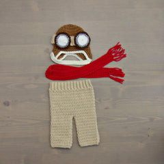 Crochet Aviator Baby Costume