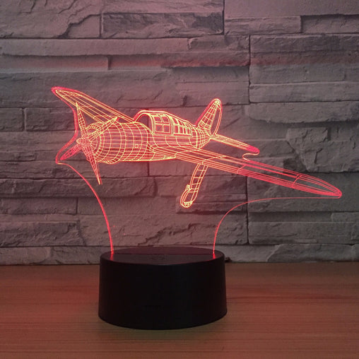 Propeller Aircraft 3D LED Night Lamp