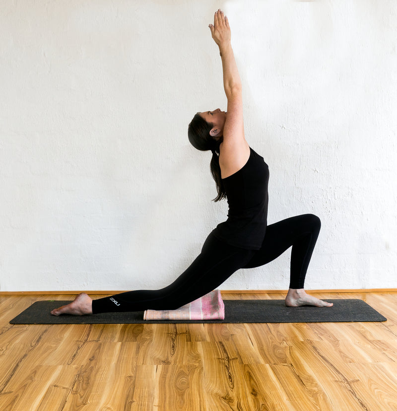 Anjaneyasana (crescent moon)