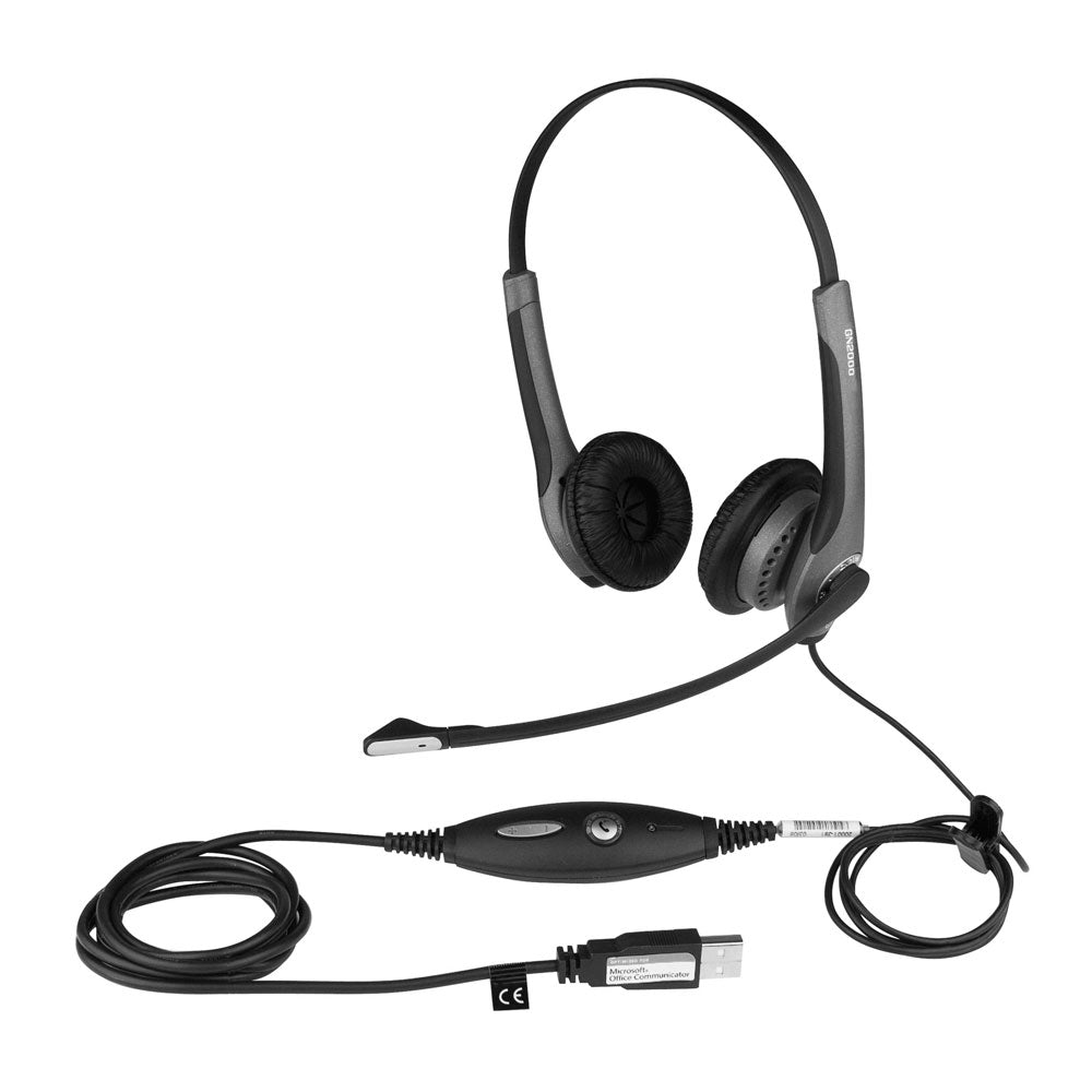 Jabra GN2000 Stereo USB Duo Noise Cancelling Headset