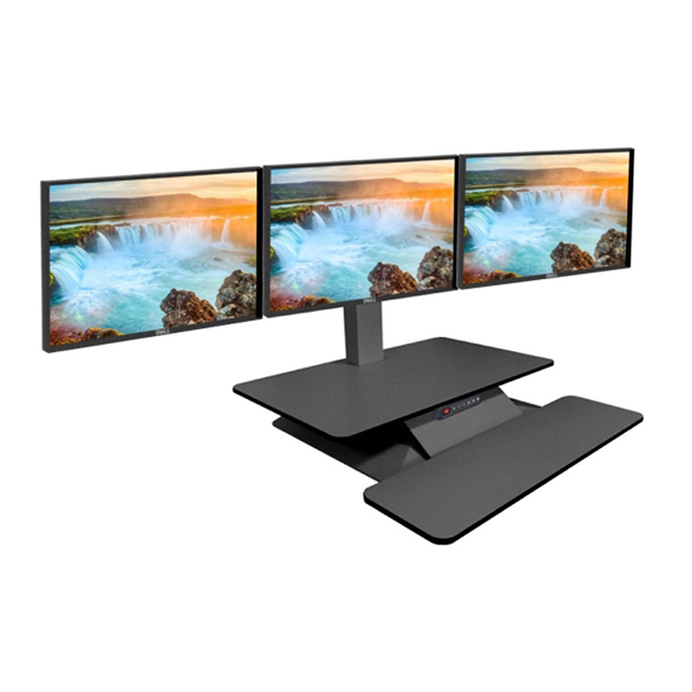 Standesk Memory Triple Electric Sit Stand Workstation