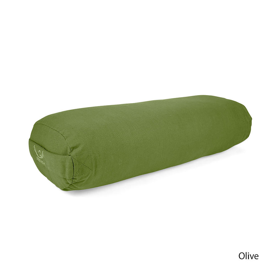 Organic Cotton Oval Yoga Bolster filled with KAPOK