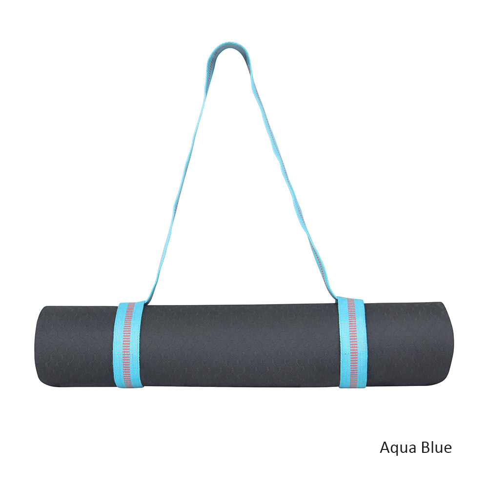 Yoga Mat Carry Strap - Stripy - Organic Cotton
