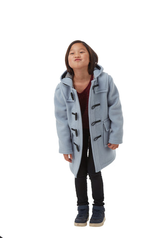 Children's Classic Duffle Coat - Baby Blue