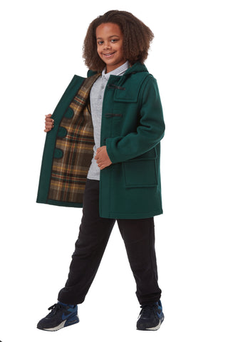 Children's Classic Duffle Coat - British Racing Green