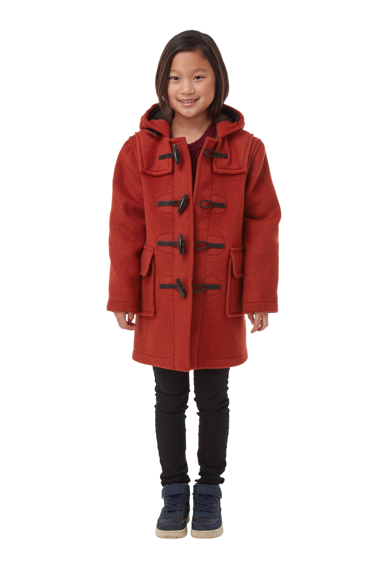 Children's Classic Duffle Coat - Burnt Orange