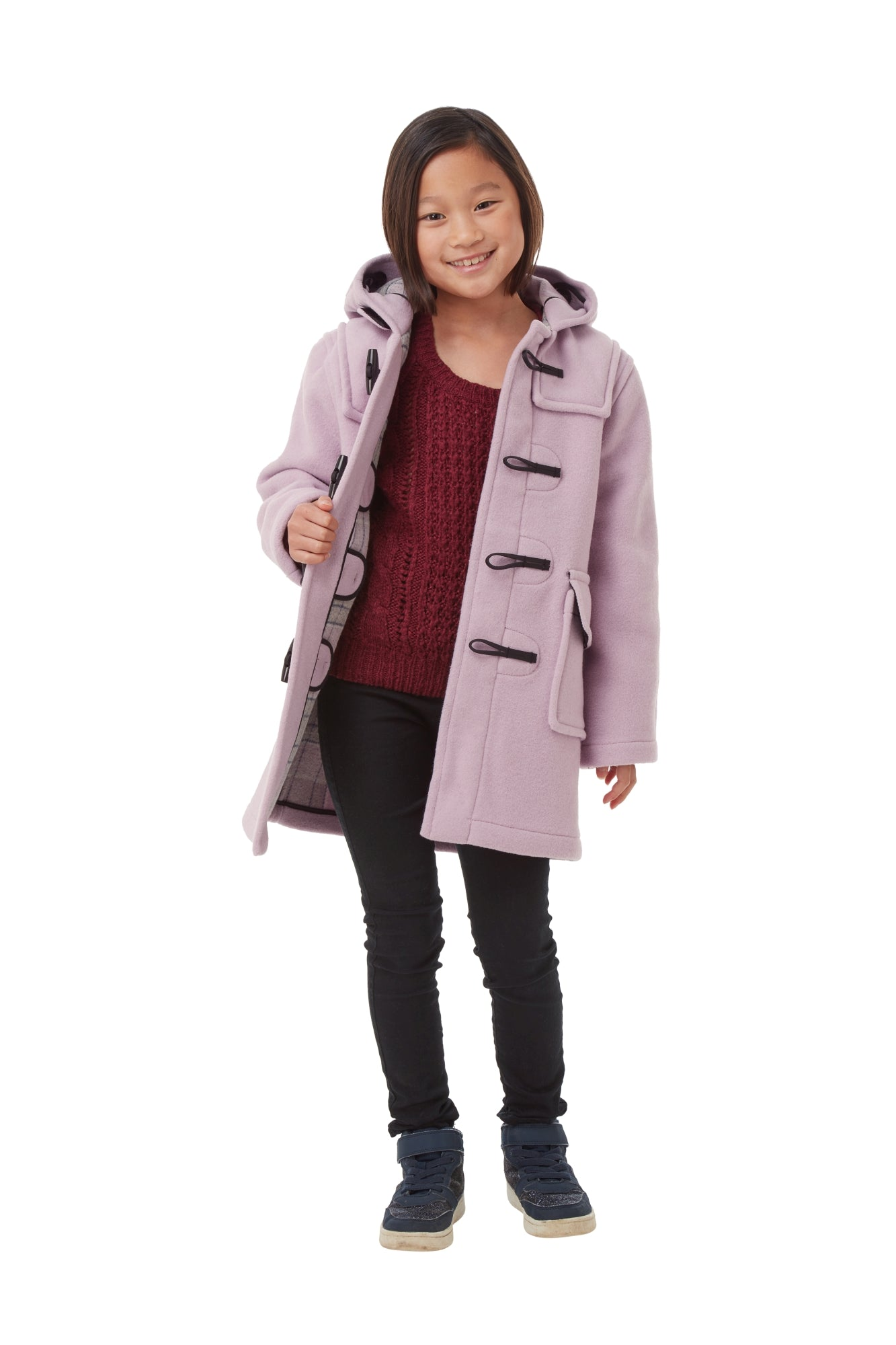 Children's Classic Duffle Coat - Lilac