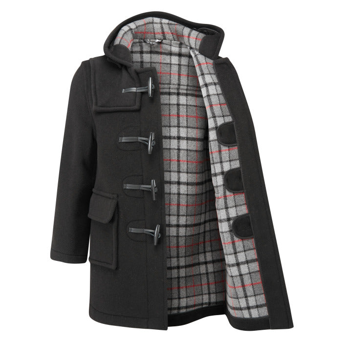 Kid's Classic Duffle Coat - Black