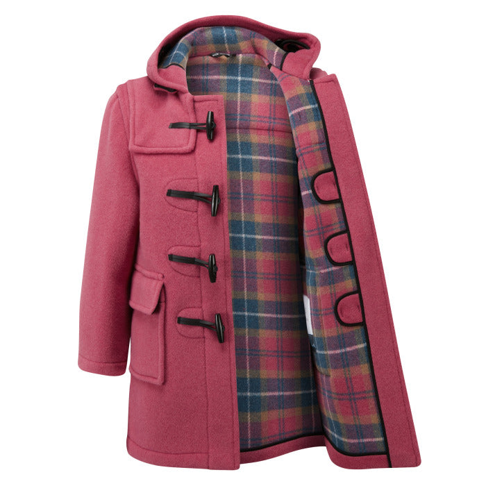 Children's Classic Duffle Coat - Pink