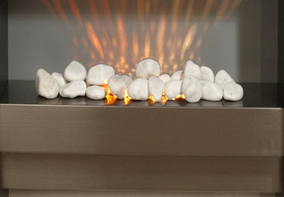 White Free Standing Electric Fireplace