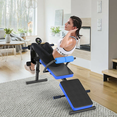 HL Adjustable Multi Weight Bench with LCD Screen - Blue