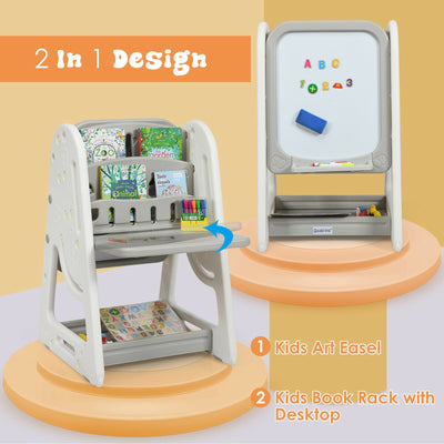 Magnetic Grey Kids Table and Chair Set / Study Desk
