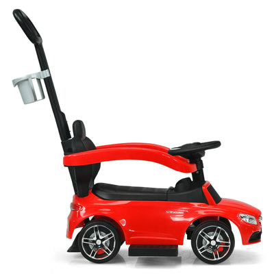 3 in 1 Ride on Push Car Licensed Mercedes Benz - Red