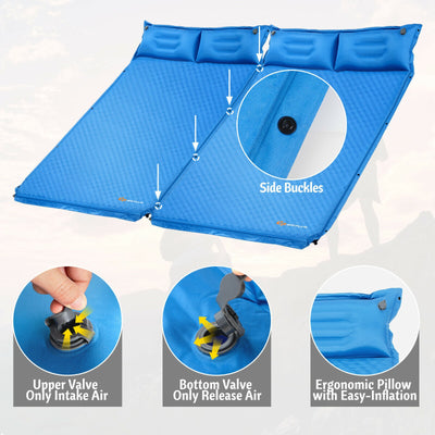 Double Sized Self Inflating Pillow / Camping Mattress with Bag