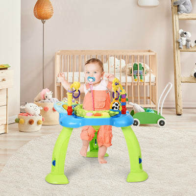 HLV Baby Jumperoo Sit-to-stand Bounce Activity - Blue