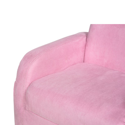 Padded 2 In 1 Kids Pink Armchair/ Sofabed