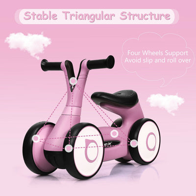 Mini 4 Wheeled Toddler Bike - Pink