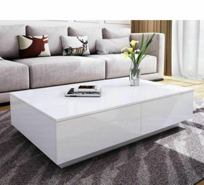 Modern Coffee Table with 4 Drawers