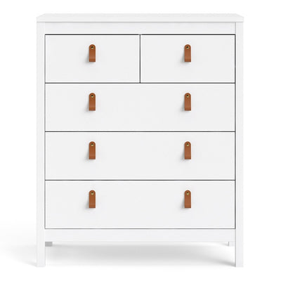 HL Barcelona Chest 3+2 drawers in White