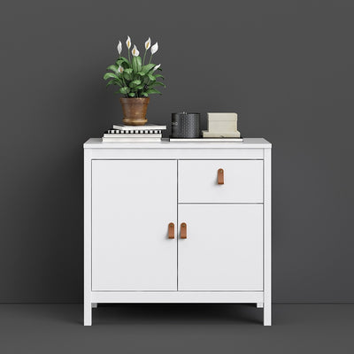Barcelona Sideboard 2 doors + 1 drawers in White
