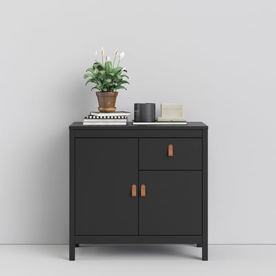 Barcelona Sideboard 2 doors + 1 drawers in Matt Black