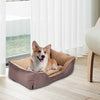 "HL 28"" Soft PP Cotton Brown Large Size Dog Bed"