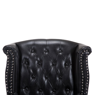 Luxury Black High Back PU Leather Armchair