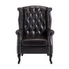 Luxury Brown High Back PU Leather Armchair