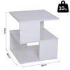 Modern Square 2 Tier Wood Coffee Side Table