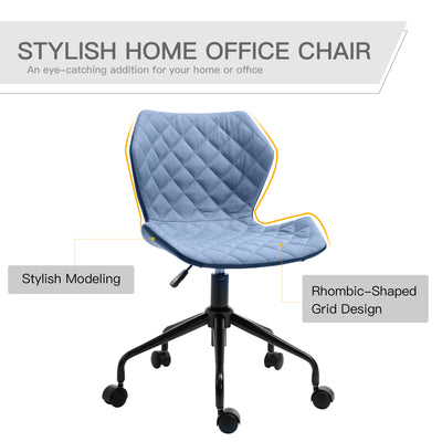 Deluxe Home Office Swivel Blue Desk Chair