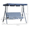 LUX Backyard 3-Seater Blue Garden hammock