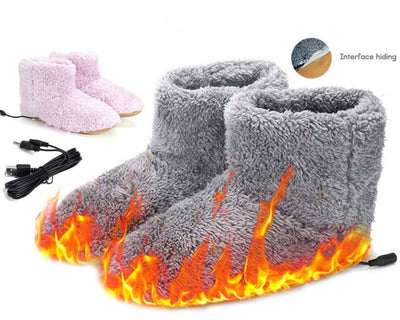 USB Winter Warmer Plush Slippers