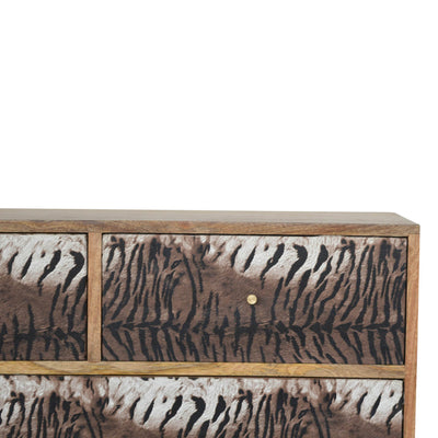 HighLife Tiger Drawer Print Chest of Drawers
