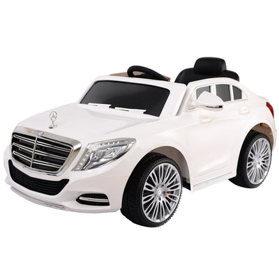 HL 12v 2.4G Licensed Mercedes Benz S600 Child's Ride On Car - White