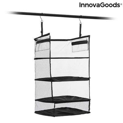 Foldable, Portable, Shelving Unit for Organising Luggage