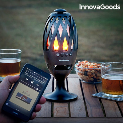 IG Flame LED Lamp and Bluetooth Speakers