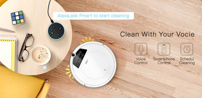 Robot Vacuum Cleaner With App & Voice Control