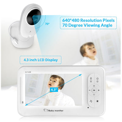 4.3 inch Two-Way Wireless Baby Monitor