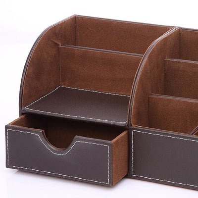 Leather Desk Organiser