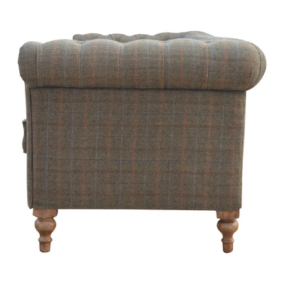HL Multi Tweed 3 Seater Chesterfield Sofa